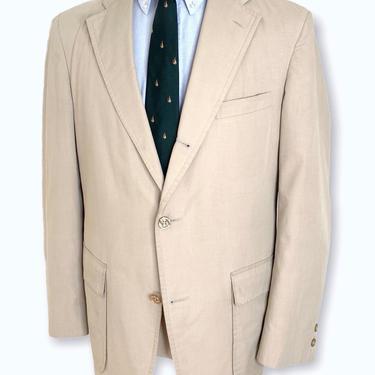 Vintage BROOKS BROTHERS 3/2 Roll Cotton Blazer ~ 40 R ~ lightweight jacket / sack sport coat ~ Wash & Wear ~ Spring / Summer by SparrowsAndWolves
