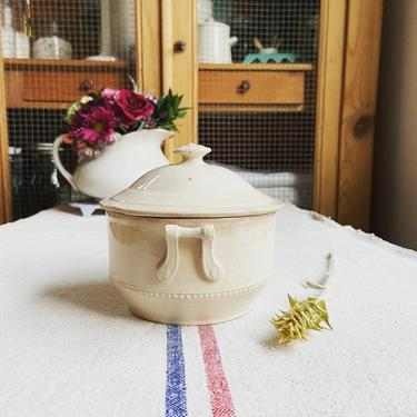Beautiful vintage French stoneware petite tureen- SWT4 by Grainsacfrenchvintag