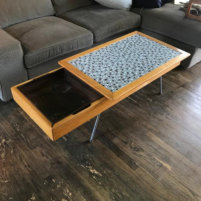 George Nelson Table / Planter Model No.4662 Palm Springs Coffee Table Ceramic Tile Herman Miller Space Age by BrainWashington