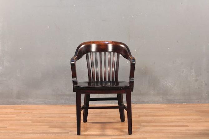 Dark Oak Banker's Chair – ONLINE ONLY