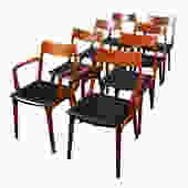 Set of 6 Danish Teak Erik Christensen Boomerang Dining Chairs