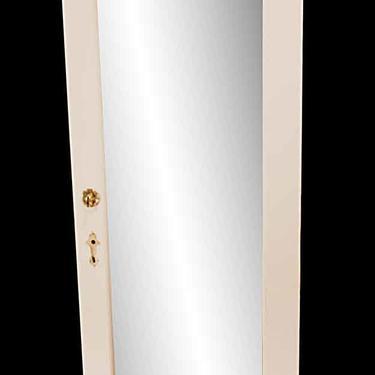 Vintage Mirror Pane Wood Closet Privacy Door 79.25 x 29.75