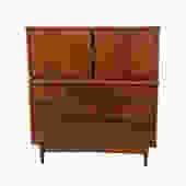 Tall Dresser Walnut Bassett Denmark '65 Mid Century Modern by HearthsideHome