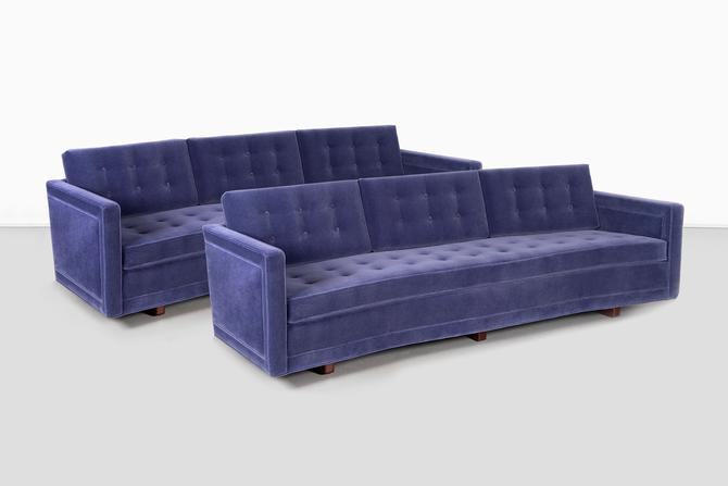 Pair of Harvey Probber Curved Sofas by MatthewRachman