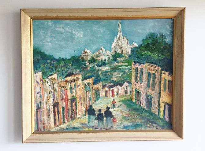 Original Signed Painting Village and Temple by ModandOzzie