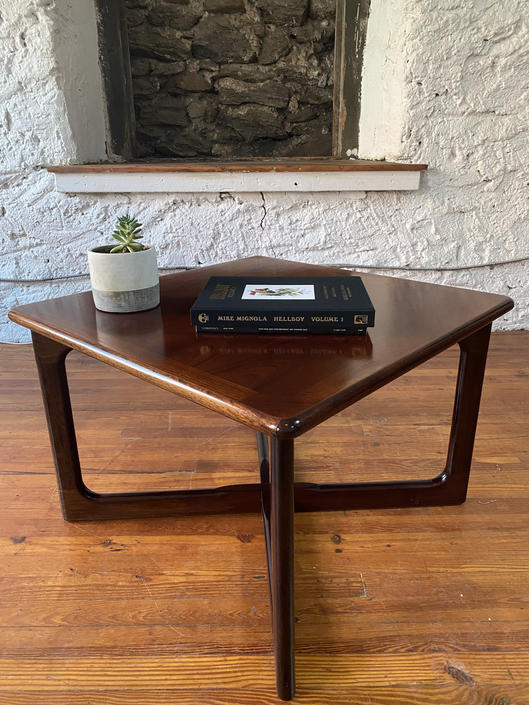 Mid century end table Danish modern side table Drylund rosewood table by VintaDelphia