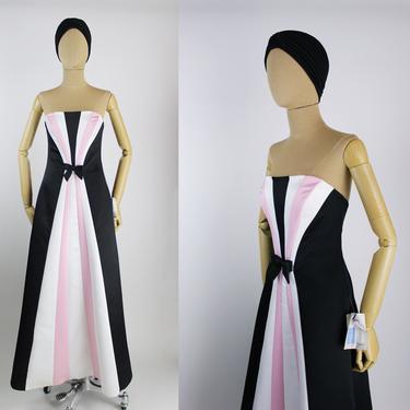 80s Colorblock Party Maxi Dress / Prom Dress / Jessica McClintock Dress / Gunne Sax / Size XXS-S by PARASOLvintage