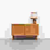 Small Borge Mogensen Style Oak Storage Cabinet