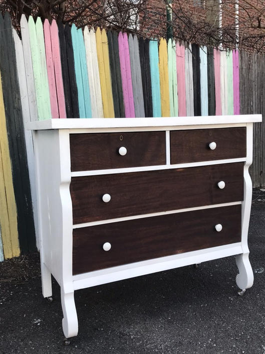 Antique dresser/tiger wood dresser/empire dresser.. Free delivery in the nyc by NYCVintageDressers