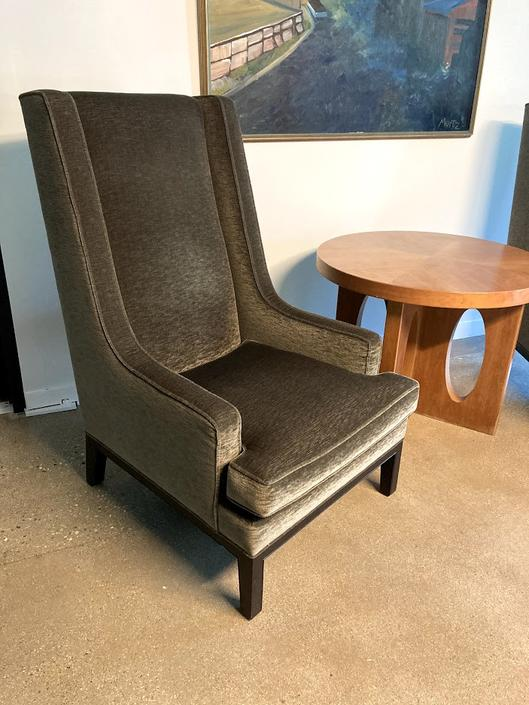 Custom High Back Lounge Chairs by Thad Hayes for Donghia