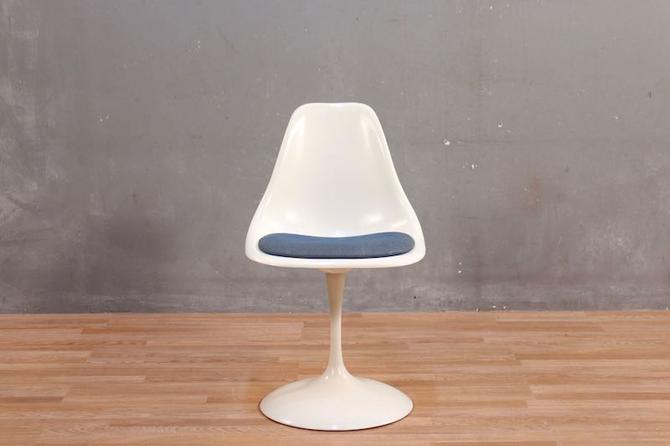Mid Century Tulip-Style Fiberglass & Metal Side Chair