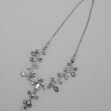 Edwardian style silver and citrine drop necklace by PREVIEWMOD