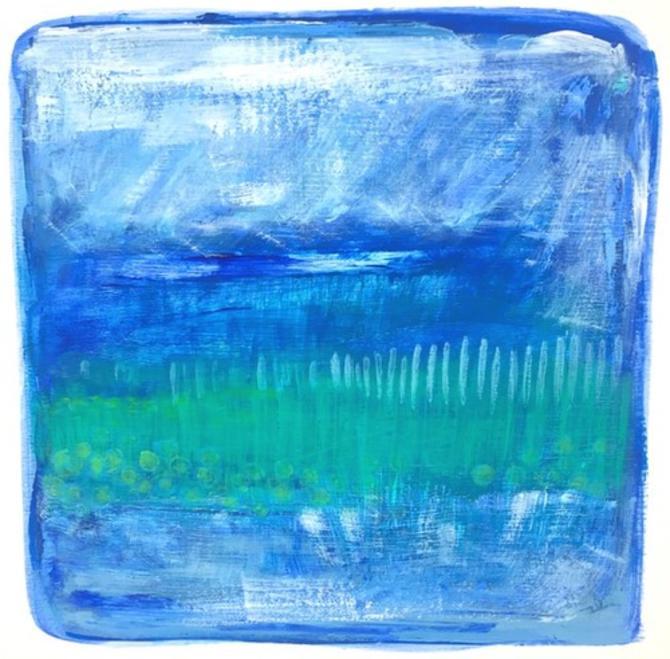 Coastal Inspired: Original Painting 9/9