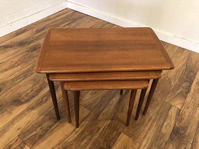 Danish Modern Vintage Teak Nesting Tables