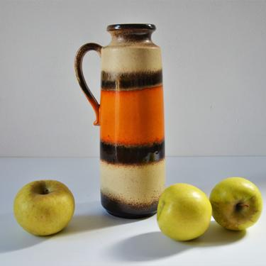 Vintage West German Art Pottery Lava Jug Vase by Scheurich Keramik, 401-25 by SourcedModern