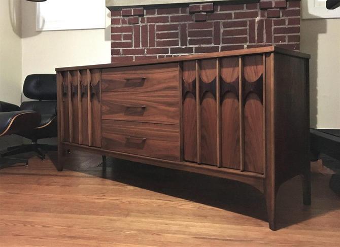 Mid Century Modern Kent Coffey Walnut & Rosewood Credenza Buffet (PureVintageNYC) by PureVintageNYC