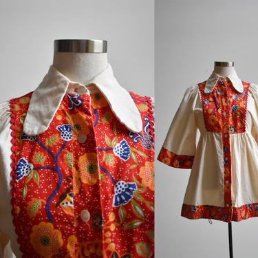 1960s Cotton Tunic Blouse by milkandice