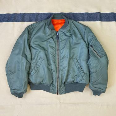 Size Xtra-Large Vintage 1960s MA-1 Reversible Nylon Flight Jacket by Satellite Outerwear Corp. by BriarVintage