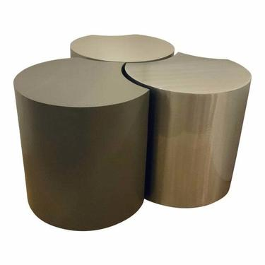 Johnston Casuals Modern Gray and Silver Metal Tables - Set of 3