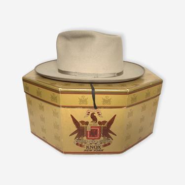 Vintage 1950s DUNLAP 'Westlite' Fedora w/ Box ~ size 7 1/8 ~ 50s Hat ~ Bound Edge / Thin Ribbon ~ Open Road / Stratoliner ~ Wide Brim by SparrowsAndWolves
