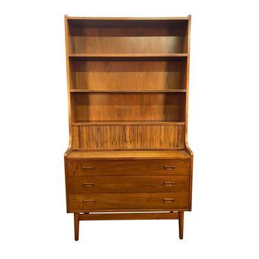 Vintage Danish Mid Century Modern Walnut Secretary Bookcase by Johannes Sorth by AymerickModern