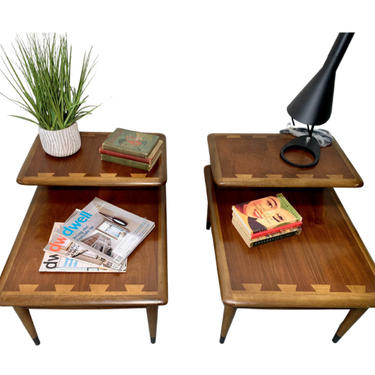 Mid Century MODERN LANE Acclaim Step Side / End TABLES by CIRCA60
