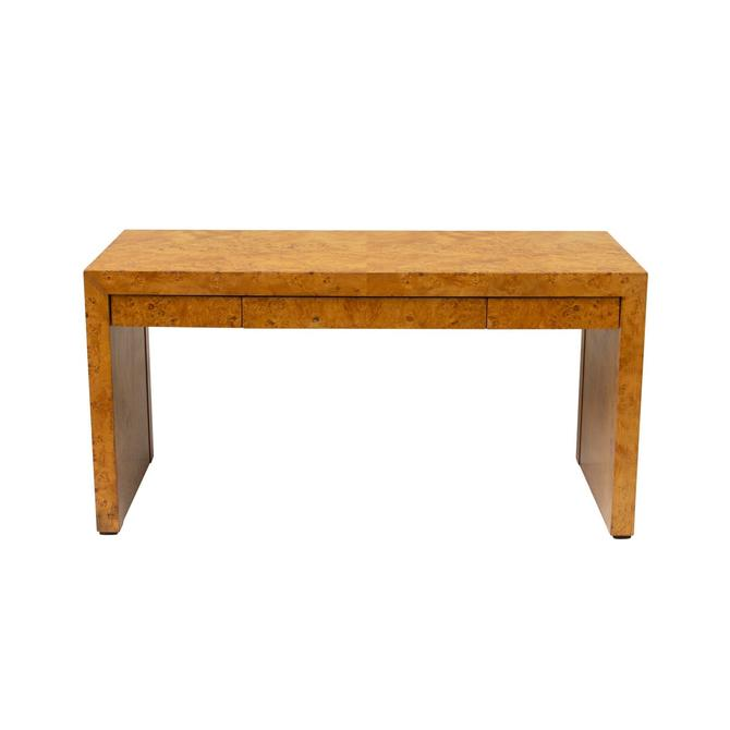 Hekman Burl Wood Writing Desk Table Stand by BigWhaleConsignment
