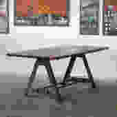 Low Top Pub kitchen Dining A Frame table industrial chic restaurant by CamposIronWorks