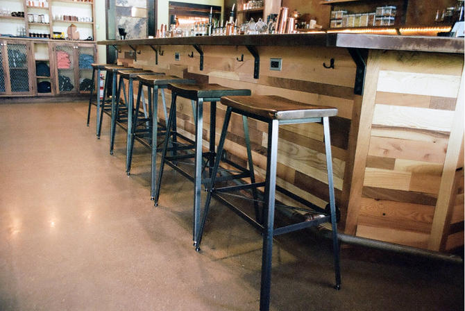 FREE SHIPPING - Industrial Chic Reclaimed Wood Saddle Stools by BarnWoodFurniture