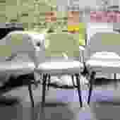 SET OF THREE MODERN DINING CHAIRS