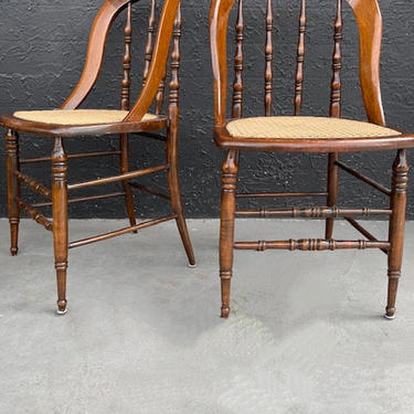 Antique Style Cane Side Chair