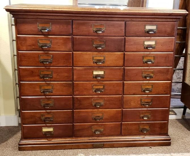 Item #AI28 American Antique 24 Drawer File Cabinet c.1900