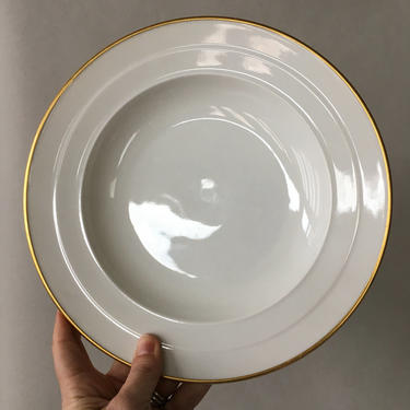 Vintage Rosenthal Soup Bowls, Rosenthal Madeleine, set of 10 | gold rimmed china, large rimmed soup bowls, white and gold porcelain bowl by ShopTheHyphenate