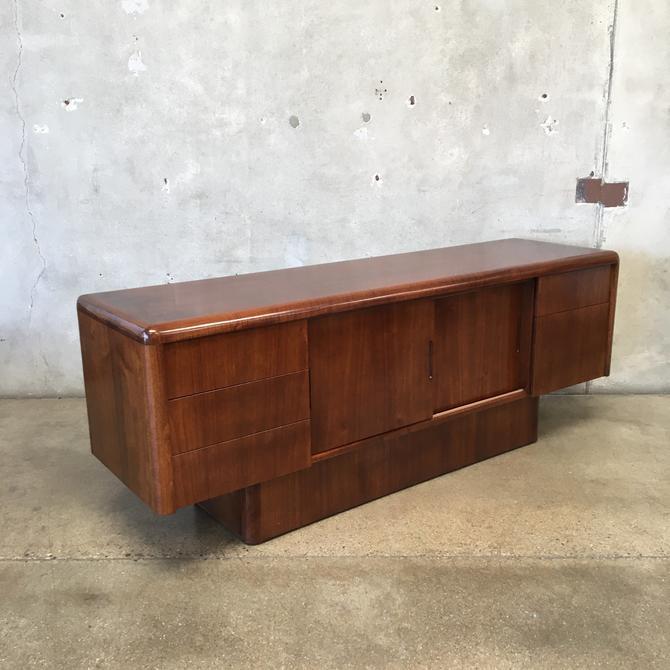 Mid Century Walnut Sideboard / Credenza