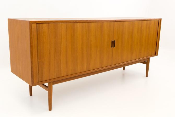 Arne Vodder Mid Century Modern Danish Teak Tambour Door Sideboard Credenza - mcm by ModernHill
