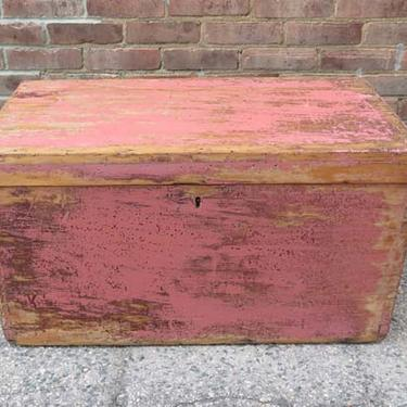 Vintage Pink Painted Box SOLD