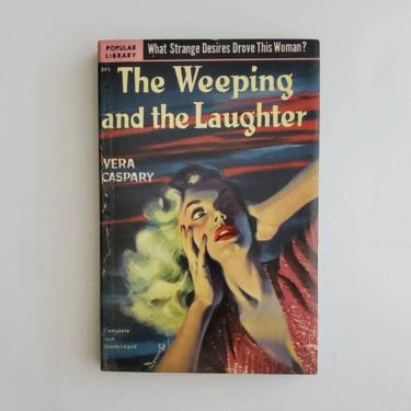 Vintage 1950s Pulp Fiction Paperback Book - The Weeping And The Laughter- 50s Home Decor 50's Collectible Books - Popular Library Book by HeySailorNiceVintage