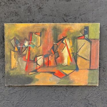 San Antonio Artsist Abstract Painting  1969