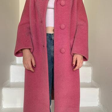 1960s Rose Pink Lili Ann Feather Weight Mohair Coat Lined in Pink Satin Med 42 Bust by AmalgamatedShop
