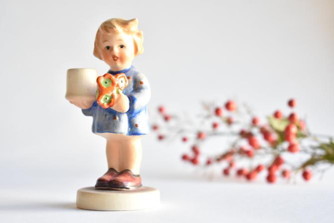 Poppies Candleholder | MI Hummel Girl w/ Nosegay Candleholder Figurine | 115 | TMK 4 by LostandFoundHandwrks