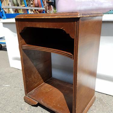Veneer Side Table with Shelf As Is