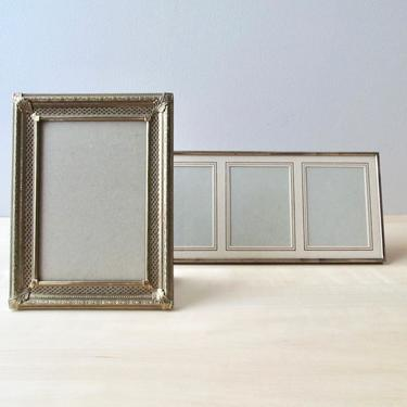 vintage brass picture frame choice 5 x 7 or triple portrait frame by ionesAttic