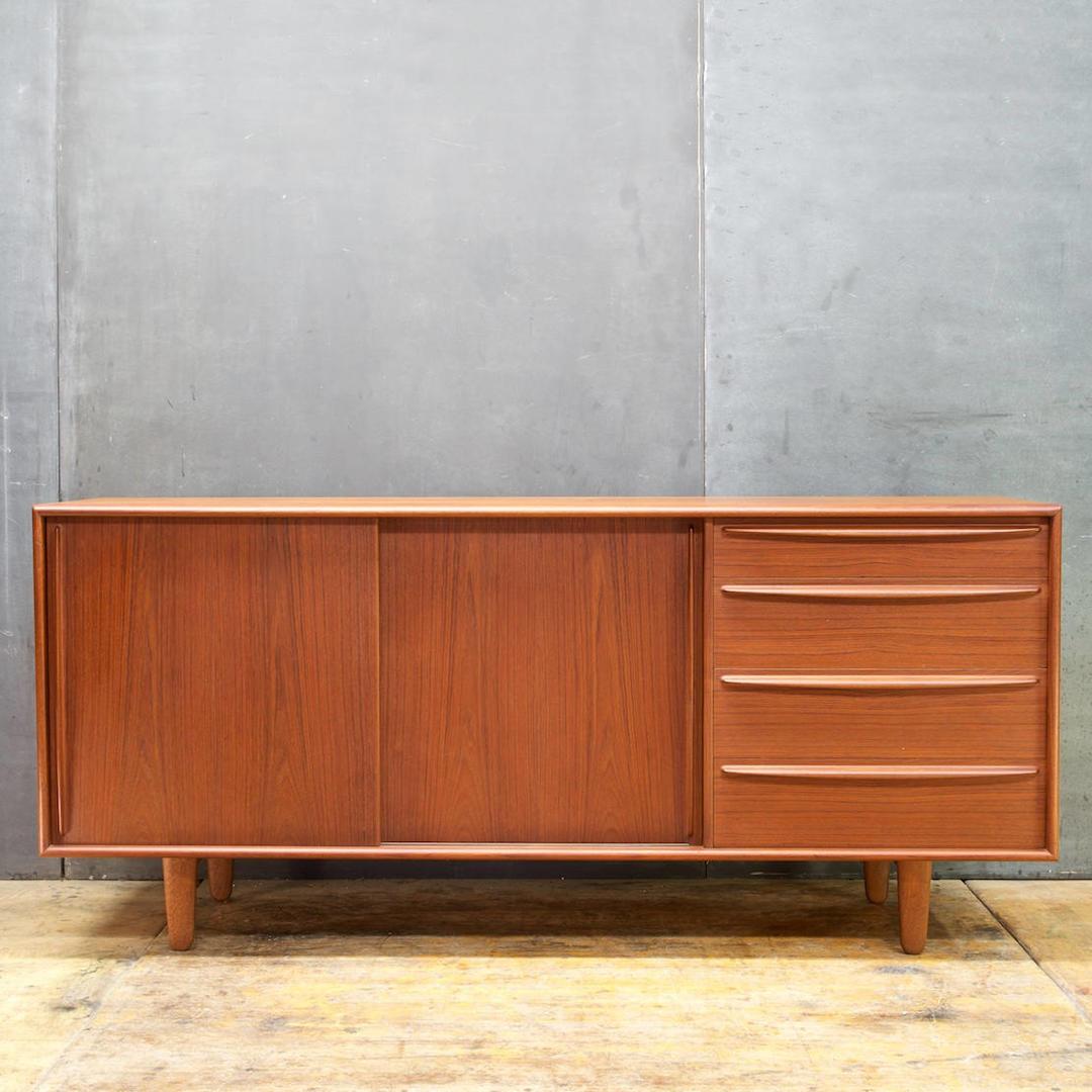 Vintage 1950s Teak Danish Madsen Credenza Mid Century