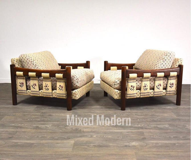 Solid Walnut Lounge Chairs- a Pair by mixedmodern1