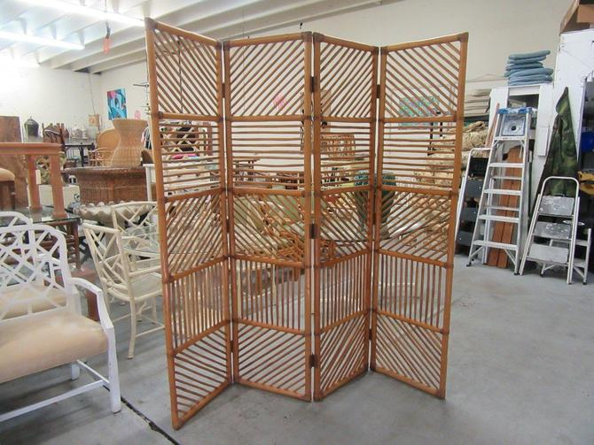 4 Panel Bamboo Screen Room Divider