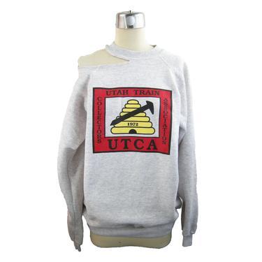 L\/S Utah Train Neck Slash Sweatshirt
