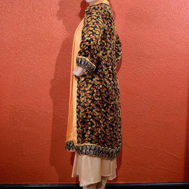1920s Silk Devoré Clutch Coat Burnout Fabric Deco by THEGIRLCANTHELPITUSA
