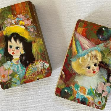 Mid Century Poncini Paris Playing Cards, Little Girl Clown, Kitsch Little Girl With Hat Set, Arrco Cards, Card Players,  Retro Graphics by luckduck