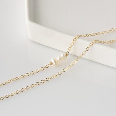 Beaded Ankle Bracelet, Pearl Anklet for Women, Real Pearl Anklet, Summer Anklet, Dainty Beaded Pearl Chain Anklet, Ankle Bracelet by LEILAjewelryshop