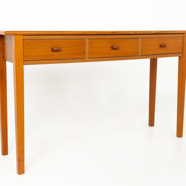 Mid Century Teak 3 Drawer Sofa Table Foyer Entry Console - mcm by ModernHill